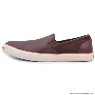 Converse Jack Purcell Basse Homme Cuir Mahogany