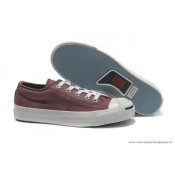 Converse Jack Purcell Basse Toile Burdungy Blanche