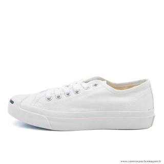 Converse Jack Purcell Ltt Basse Cancas Chaussures Blanche Beige