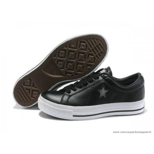 Star Taille 34 One Noir Cuir Converse Blanche Stripe 80XNPnZwOk