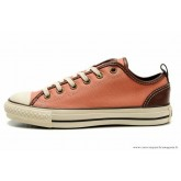 Femme Converse All Star Basse Toile Rose Marron