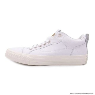 Homme Converse All Star Cuir Chaussures Blanche