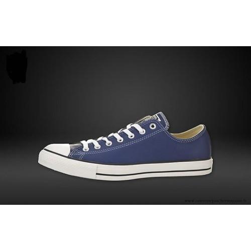 e113a67502e7d Homme Converse Chuck Taylor Basse Cuir Chaussures Victoria Bleu ...
