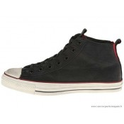 John Varvatos Homme Converse All Star Mid Noir Rouge