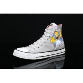 Converse bande dessinee Simpson impression nouvelle serie de printemps gris haut-dessus 146808C