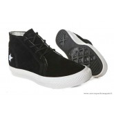 Skateboard Chaussures Converse One Star Blanche Star Haute Suede Noir Clathrate