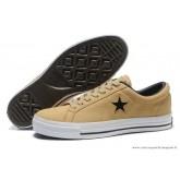 Suede Chaussures Converse One Star Noir Star Kaki Noir