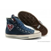 Superman Converse Chuck Taylor All Star Haute Toile Bleu