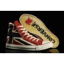 Union Jack Converse Chuck Taylor All Star Haute Toile Rouge Crystal Sole