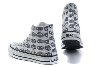All Star Converse Amour Blanc Squelette -001