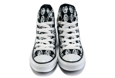 All Star Converse Amour Squelette Noir -001