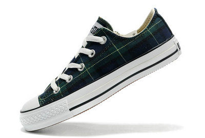 Converse Pas Cher Converse All Star Ecosse Punk Plaid Vert