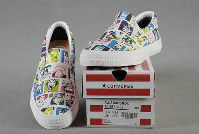 All Star Converse Blanc Impression Batman