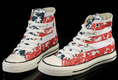 Converse France Chuck Taylor All Star Usa Drapeau Bleu Whtie Rouge