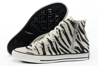 50342ff1904 Chaussures Converse Motifs Noir Zébrées Blanc Tirette Converses ...