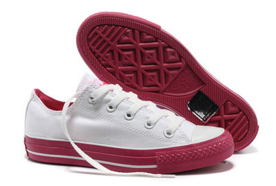 All Star Converse Blanc Rouge -002