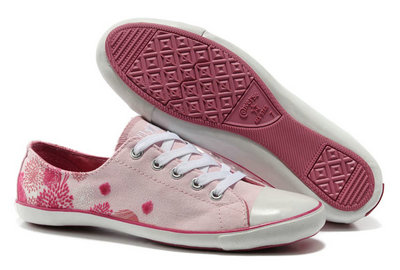 Converse Pas Cher Converse All Star Flocage Rose
