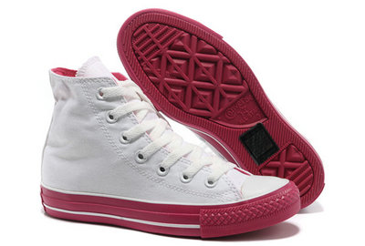 All Star Converse Blanc Rouge -001
