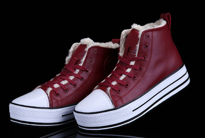Converse Pas Cher Converse All Star Cuir Plateforme Rouge Sieste Douce