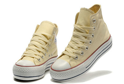 Converse All Star Soldes Plateforme Beige -001