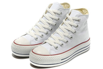 Converse All Star Soldes Plate-forme Blanche -001