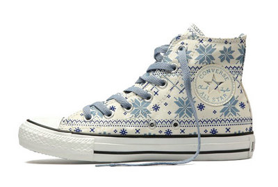 Converse Prix Chuck Taylor All Star Flocon De Coton Bleu à Carreaux Blanc