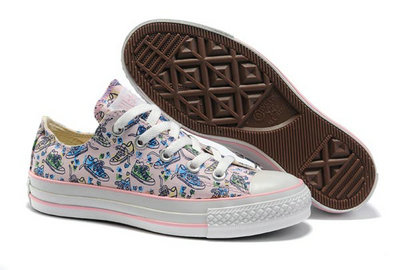 Acheter Converse Chuck Taylor All Star Lowo Crayon Graffiti Rose