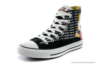 Chaussures Converse The Simpsons Chuck Taylor All Star Noir
