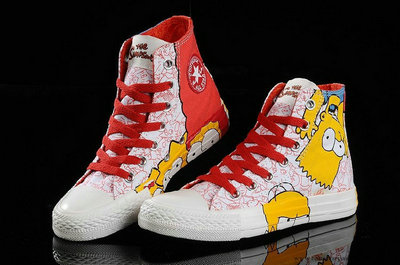 Le Converse Simpsons Chuck Taylor All Star Chaussures Rouge